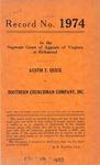 Austin T. Quick v. Southern Churchman Company, Inc.