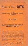 G. W. Spicer v. Hartford Fire Insurance Company, Hartford, Conn., Inc.