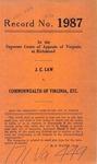 J. C. Law v. Commonwealth of Virginia , etc.