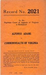 Alfonso Adams v. Commonwealth of Virginia