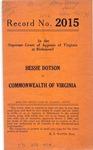Hessie Dotson v. Commonwealth of Virginia