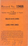 Nellie Davis Jones v. James Pope Jones