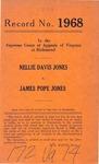 Nellie Davis Jones v. James Pope Jones