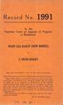 Daisy Lea Bailey (Now Bonitz) v. J. Hugh Bailey