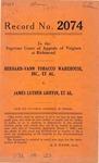 Bernard-Vann Tobacco Warehouse, Inc., et al. v. James Luther Griffin, et al.