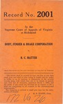 Body, Fender and Brake Corporation v. R. C. Matter