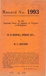 W. H. Boswell, Sheriff, etc. v. W. T. Lipscomb