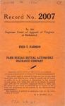 Fred T. Harmon v. Farm Bureau Mutual Automobile Insurance Company