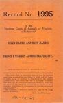 Helen Harris and Huff Harris v. Prince I. Wright, Administrator, etc.