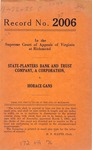 State-Planters Bank and Trust Company v. Horace Gans