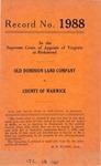 Old Dominion Land Company v. County of Warwick