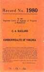 C. A. Ragland v. Commonwealth of Virginia
