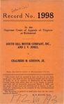 South Hill Motor Company, Inc. and J. V. Jones v. Chalmers M. Gordon, Jr.