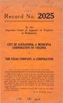 City of Alexandria v. The Texas Company