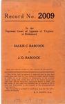 Sallie C. Babcock v. J. O. Babcock