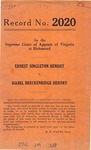 Ernest Singleton Hendry v. Isabel Breckenridge Hendry