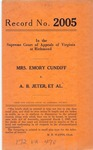 Mrs. Emory Cundiff v. A. B. Jeter, et al.