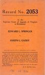 Edward L. Springer v. Joseph L. Gaddy