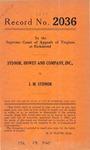Sydnor, Howey and Company, Inc. v. J. M. Sydnor