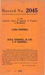 Laura Thornhill v. Otis R. Thornhill, Jr. and D. W. Thornhill