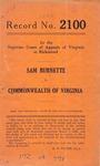 Sam Burnette v. Commonwealth of Virginia