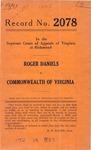 Roger Daniels v. Commonwealth of Virgina