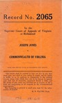 Joseph Jones v. Commonwealth of Virginia
