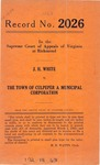 J. H. White v. The Town of Culpeper