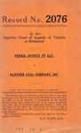 Vernia Justice, et al. v. Panther Coal Company, Inc.