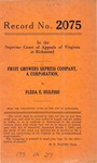 Fruit Growers Express Company v. Fleda E. Hulfish