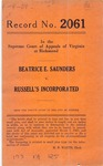 Beatrice E. Saunders v. Russell's, Inc.