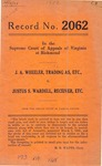J. A. Wheeler, t/a etc. v. Justus S. Wardell, Receiver, etc.