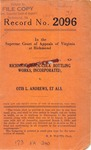 Richmond Coca-Cola Bottling Works, Inc. v. Otis L. Andrews, W. B. Quisenberry and J. K. Williams