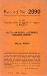 State Farm Mutual Automobile Insurance Company v. Anna L. Wright