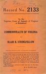 Commonwealth of Virginia v. Blair B. Stringfellow