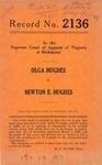 Olga Hughes v. Newton E. Hughes