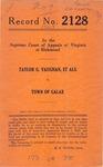Taylor G. Vaughan, et al. v. Town of Galax