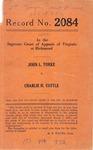 John L. Yorke v. Charlie H. Cottle