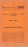 John L. Yorke v. Margaret Quaintance Mason