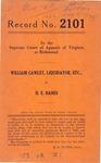 William Cawley, Liquidator, etc. v. H. E. Hanes