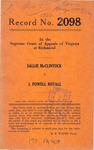 Sallie McClintock, et al. v. J. Powell Royall, et al.