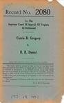 Carrie B. Gregory, Administratrix, etc. v. B. R. Daniel, et al.