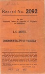 J. C. Abdell v. Commonwealth of Virginia