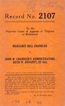 Margaret Bell Chandler v. John W. Chandler's Administrators, Ruth W. Doughty, et al.