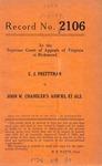 C. J. Prettyman v. John W. Chandler's Administrators, S. M. James, et al.