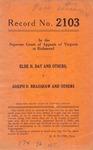 Elsie H. Day, et al. v. Joseph D. Bradshaw, et al.