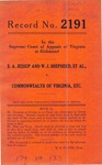 S. A. Jessup and W. J. Shepherd, et al. v. Commonwealth of Virginia, etc.