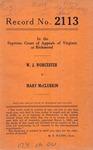 W. J. Worcester v. Mary McClurkin
