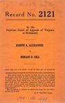 Joseph A. Alexander v. Miriam D. Hill