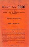 Ruth Lester Buchanan v. John R. Buchanan